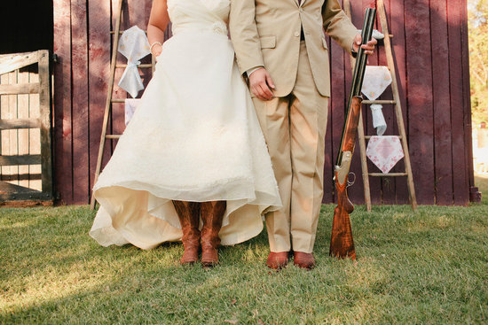 romantic outdoor wedding lace decor country western bride groom