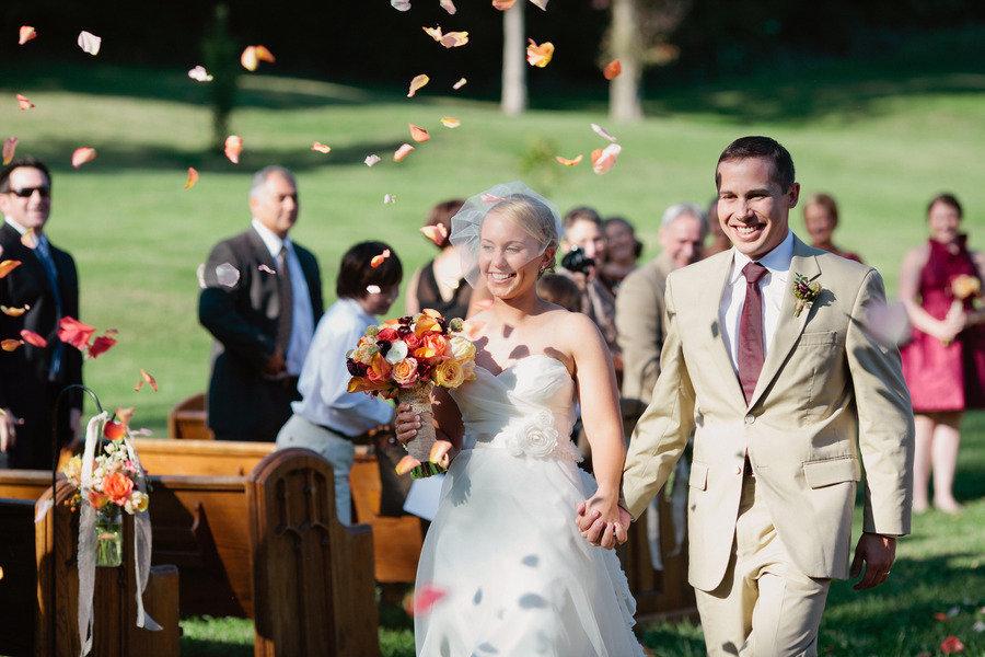 Romantic-outdoor-wedding-lace-decor-bride-groom-exit.full