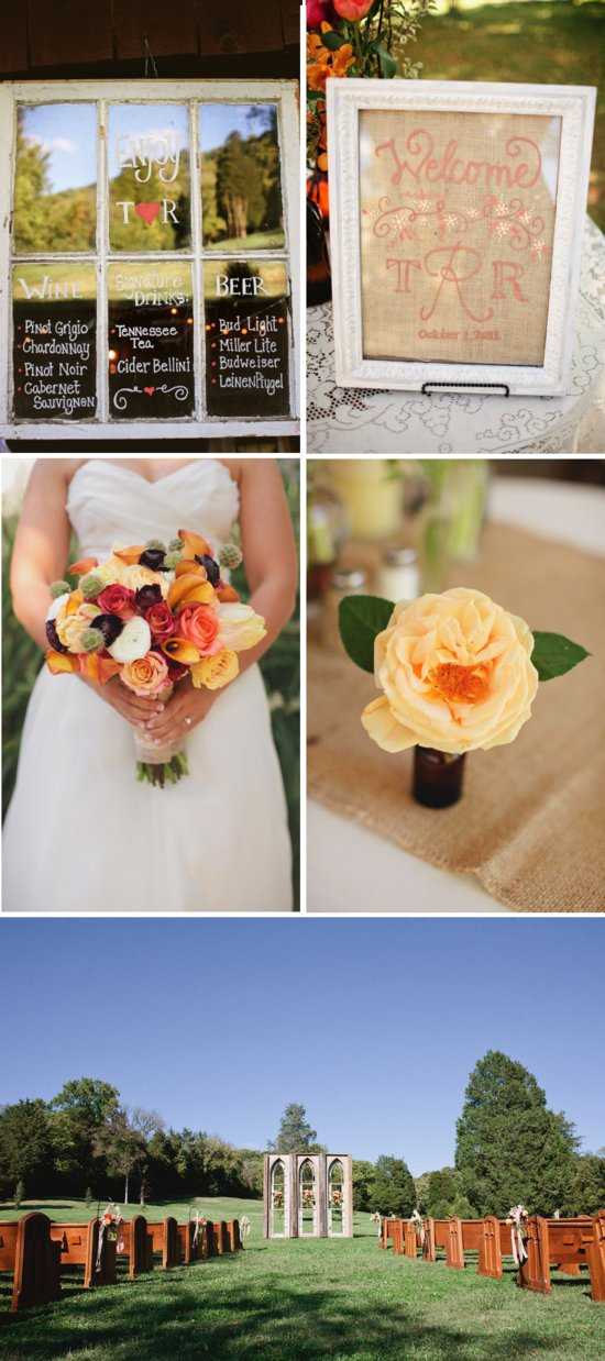 outdoor elegant wedding sweet country western theme