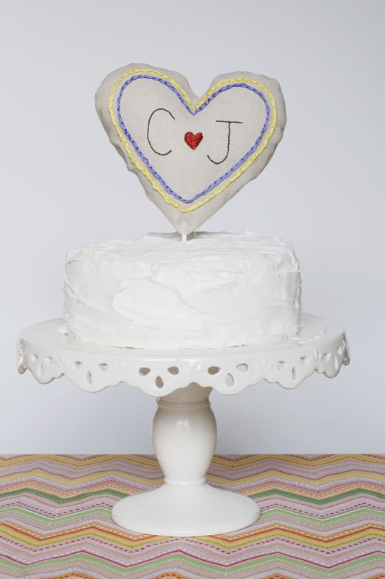 custom wedding cake topper monogrammed homespun wedding style