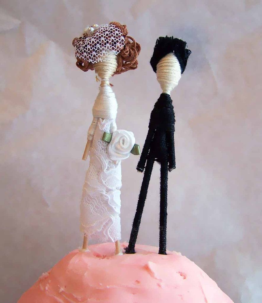 photo of Customized couple wedding cake topper