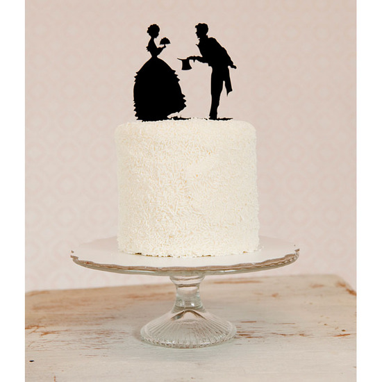 photo of Vintage-inspired silhouette wedding cake topper