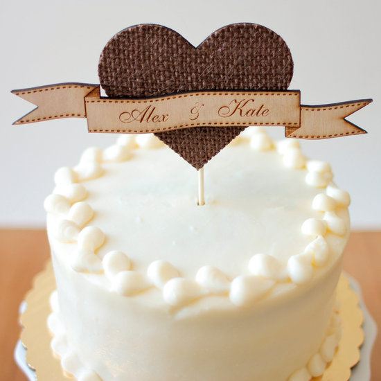 photo of Rustic wedding cake topper