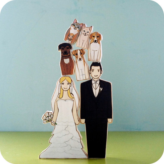 photo of Wedding cake topper for dog lovers