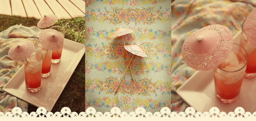 romantic wedding DIY projects lace signature drink umbrellas