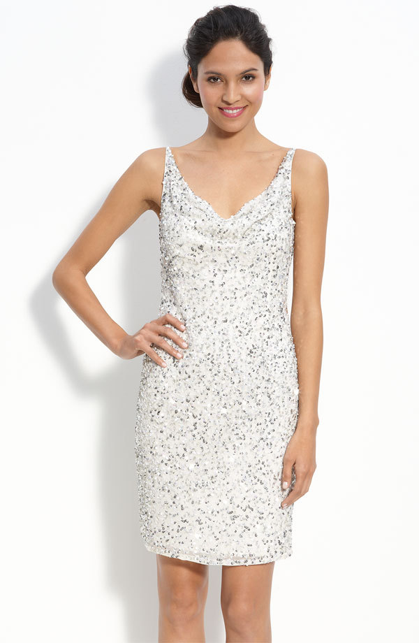 Little-white-dress-for-wedding-reception-beaded-silver-sheath.full