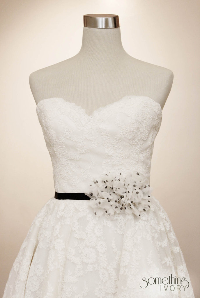 photo of Polka Dot bridal sash