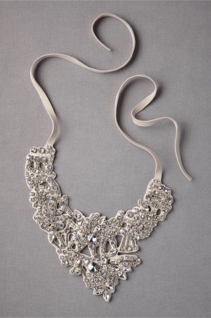 photo of Silvery lace bridal necklace