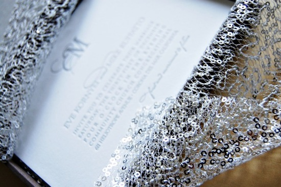 photo of 2012 wedding trends Silver Metallic Letterpress Wedding Invitations Wiley Valentine3