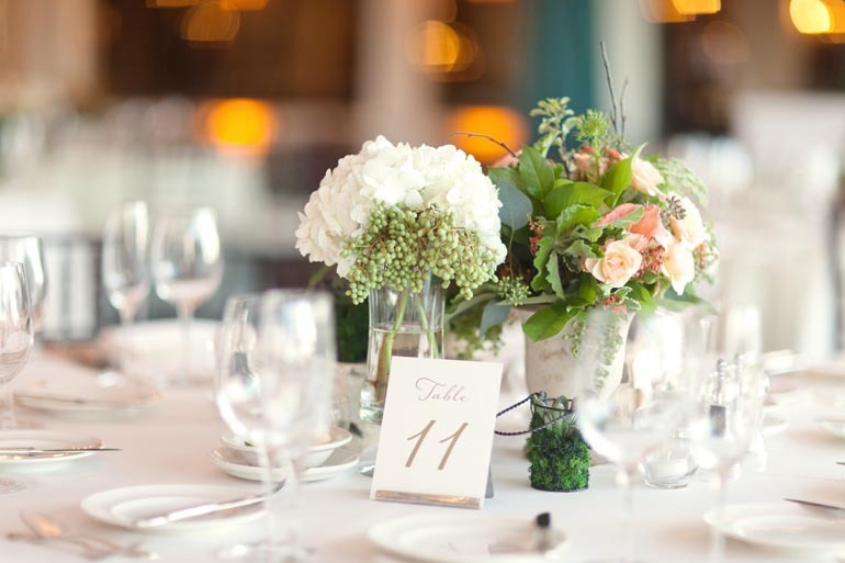 elegant spring wedding banquet hall wedding reception venue romantic centerpieces 1