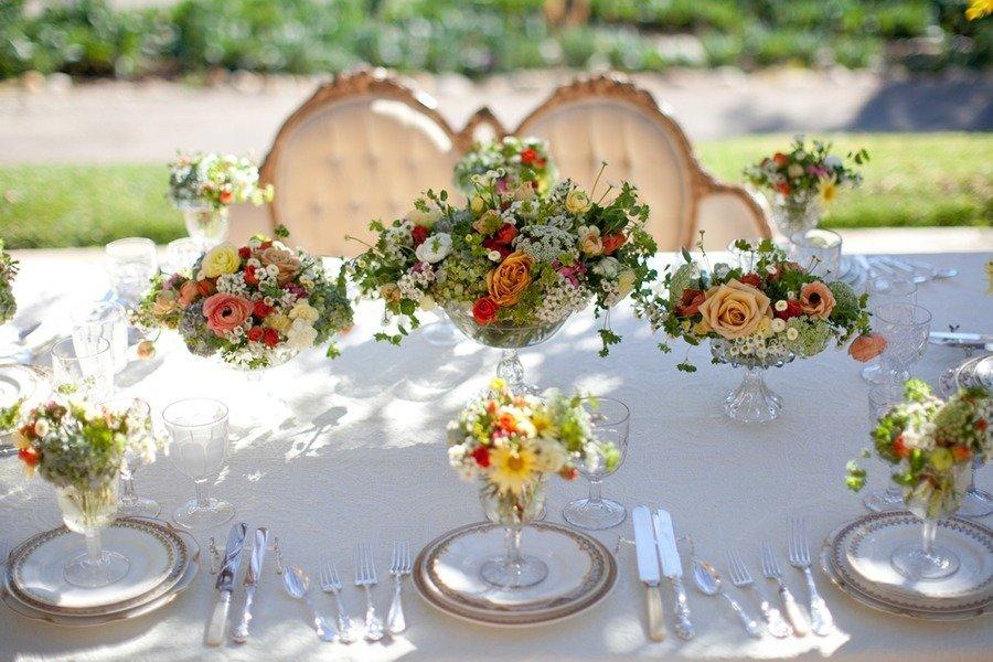 Exceptionnel Romantic Spring Garden Wedding Flowers Reception Centerpieces 3
