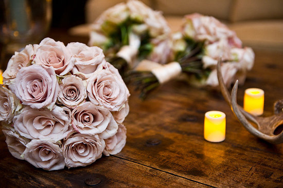 spring wedding flowers roses blush pink