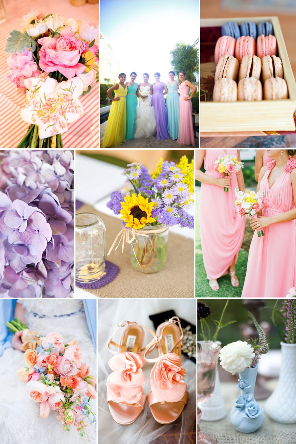romantic easter wedding color palette lilac pink yellow spring wedding