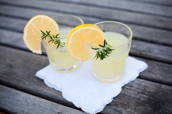 signature wedding drinks best reception recipes rosemary lemonade