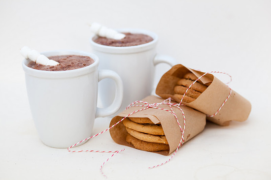 winter wedding signature drinks spiked hot chocolate