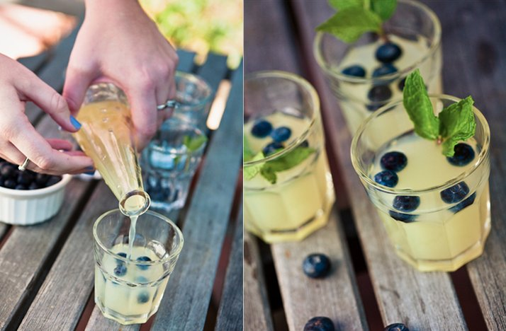signature wedding cocktails best reception drink recipes for 2012 blueberry lemon