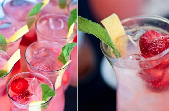 signature wedding cocktails best reception drink recipes for 2012 strawberry champagne sparkler