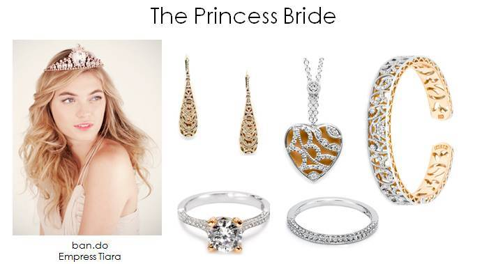 find your bridal style princess bride wedding jewelry