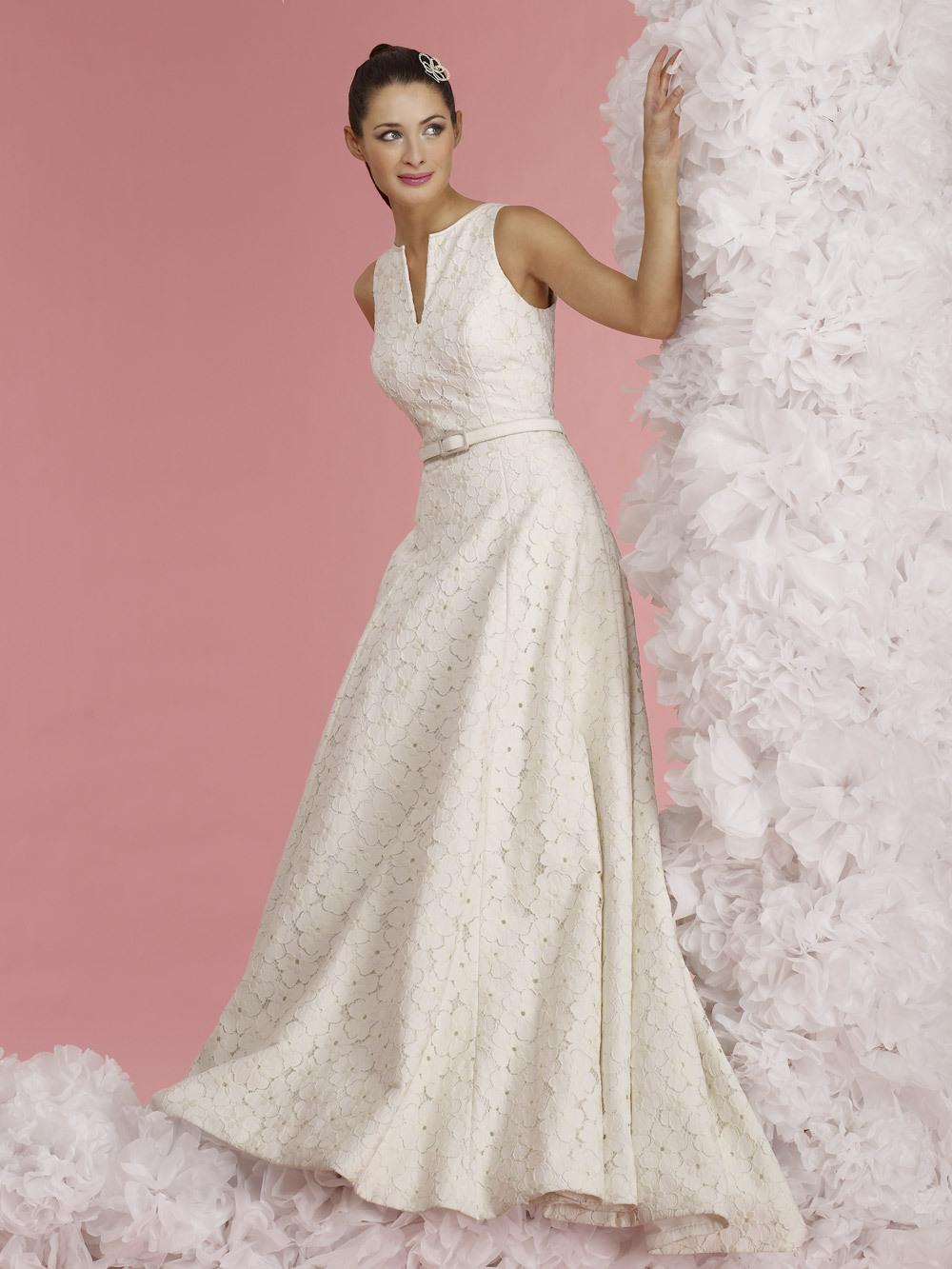 Vintage inspired wedding dress 2012 bridal gowns steven for Antique inspired wedding dresses