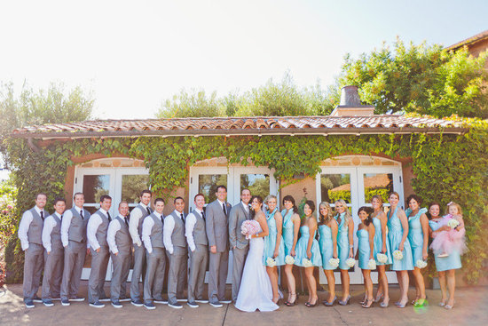 romantic winery wedding outdoor wedding venues outdoor wedding photo bridal party