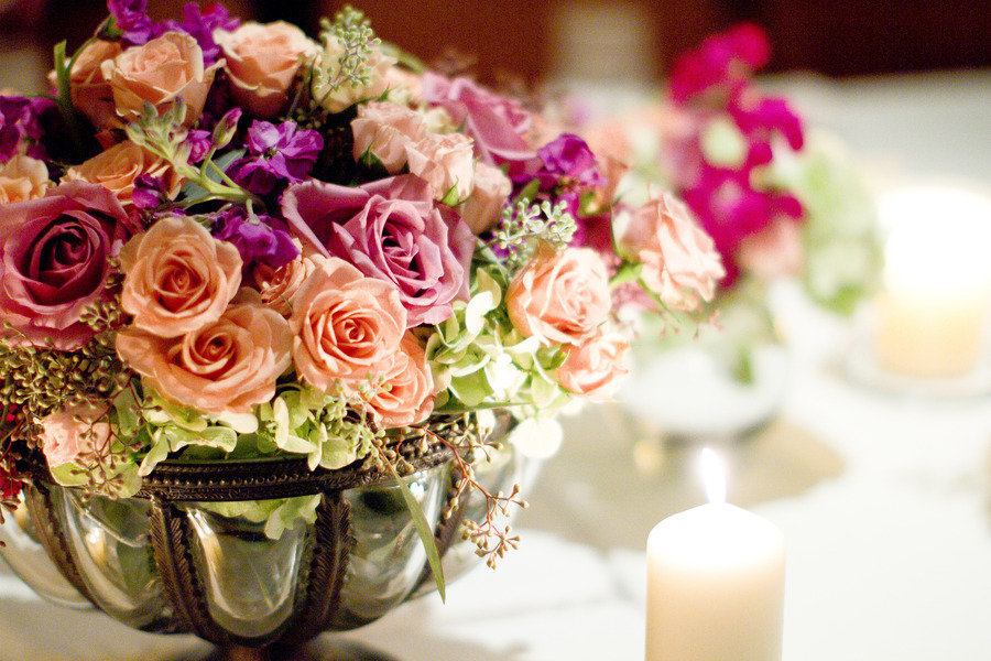 Romantic-winery-wedding-outdoor-wedding-venues-colorful-flower-centerpiece.full