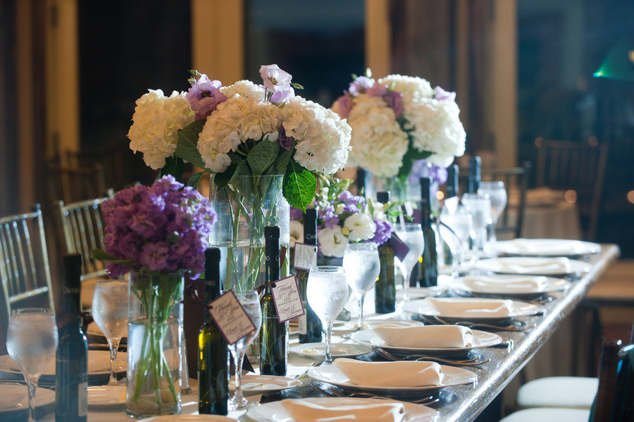 Romantic-winery-wedding-outdoor-wedding-venues-ivory-purple-centerpieces.full