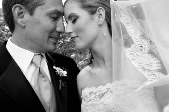 photo of romantic winery wedding outdoor wedding venues bride groom lace veil