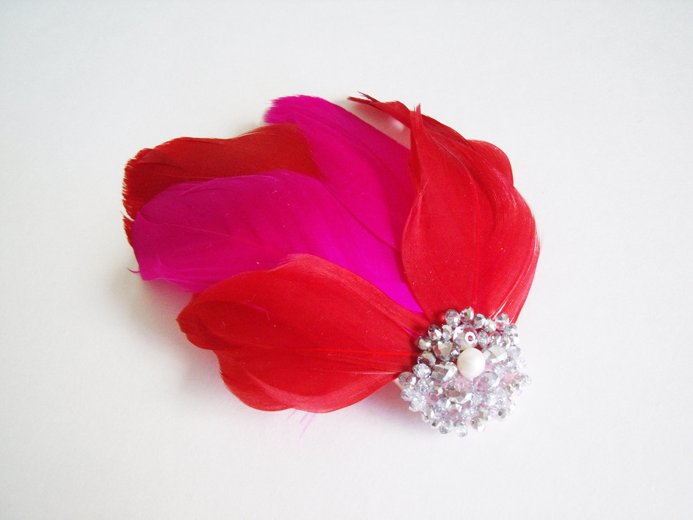 Hot-pink-red-feather-bridal-fascinator.full