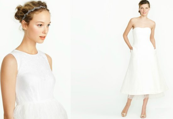 j crew simple wedding dress