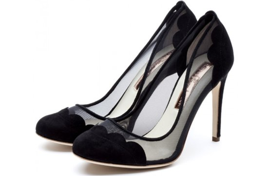 elegant black wedding shoes
