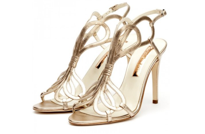 3d91cd24ed85d8 gold strappy wedding shoes