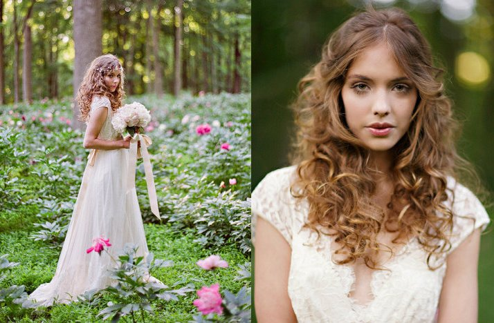 Romantic-bohemian-bride-outdoor-wedding-lace-bridal-gown.full