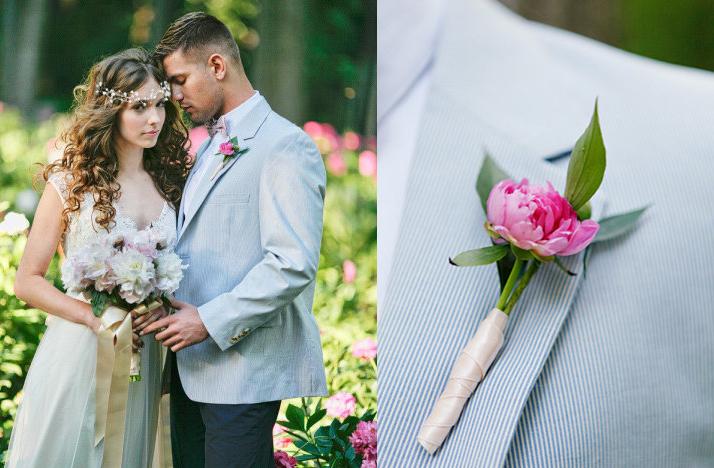 what wear garden wedding florals