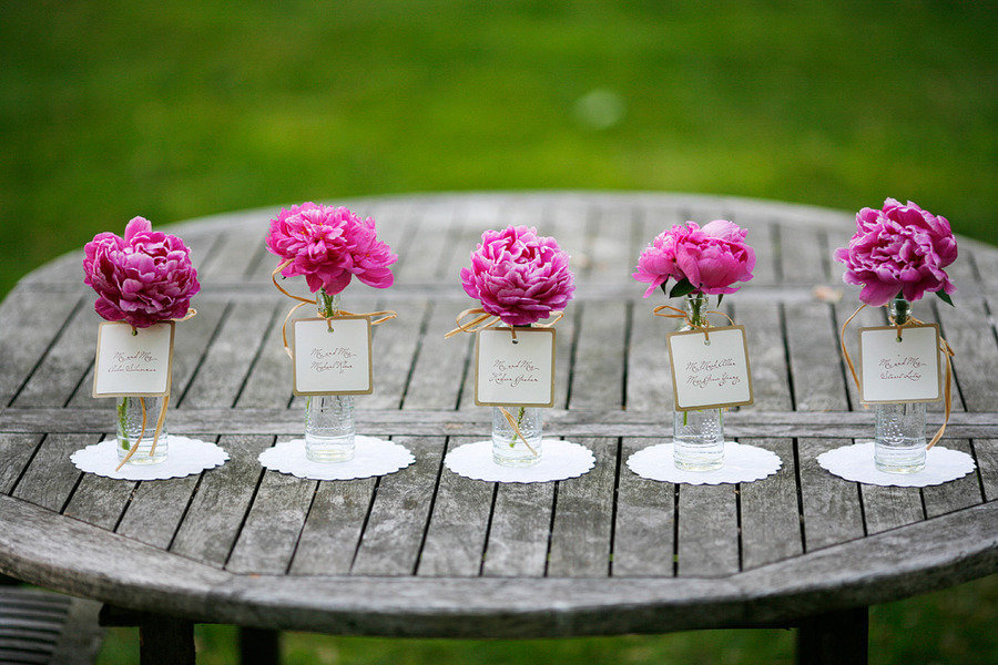 Romantic-spring-wedding-outdoor-venue-single-bloom-centerpieces-pink-peonies.full