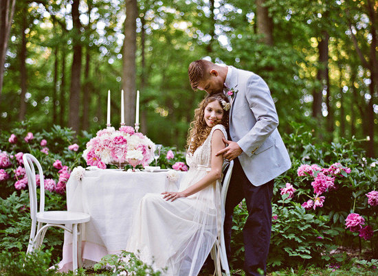 romantic spring wedding outdoor venue enchanted garden