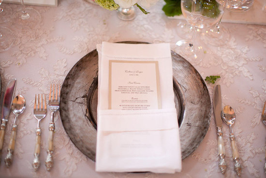 lace wedding reception tablescape