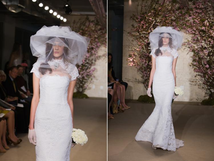 Lace oscar de la renta wedding dress for Oscar de la renta lace wedding dress