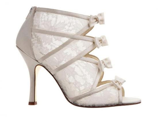 ivory lace bridal booties