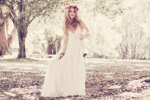 photo of 2012 wedding dress vintage bride bohemian chic bridal gown