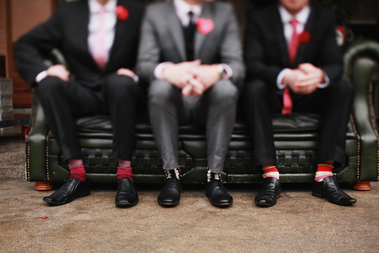 love themed real wedding grooms attire