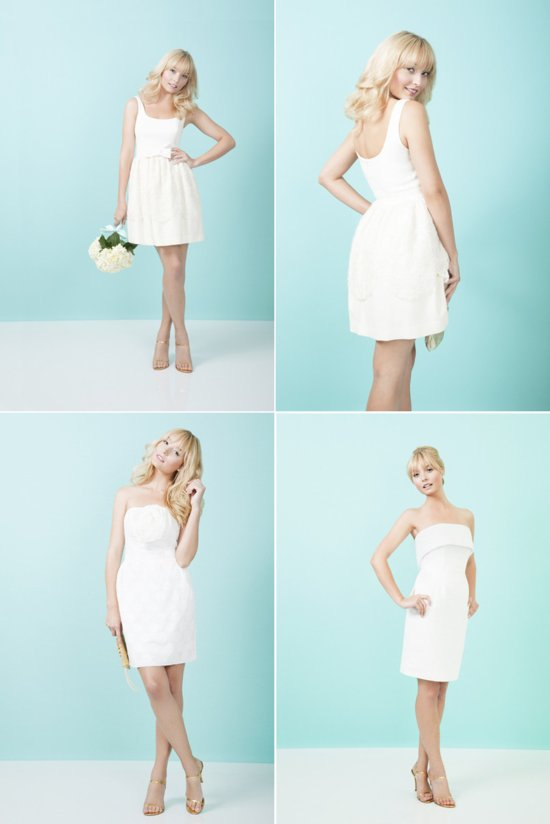 little white wedding reception dresses LWD for 2012 brides