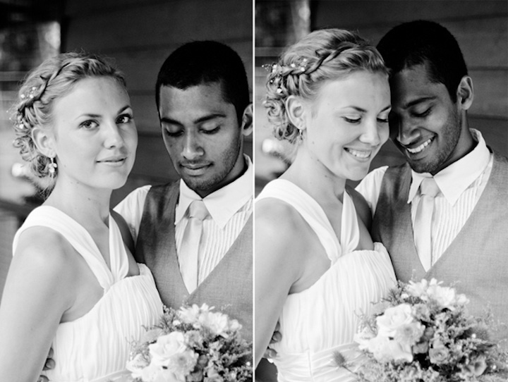 Bride-groom-pose-after-wedding-ceremony-black-and-white.full