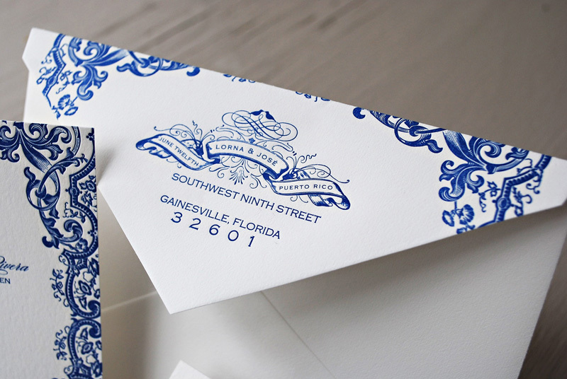 Blue Letterpress Puerto Rico Wedding Invitations21
