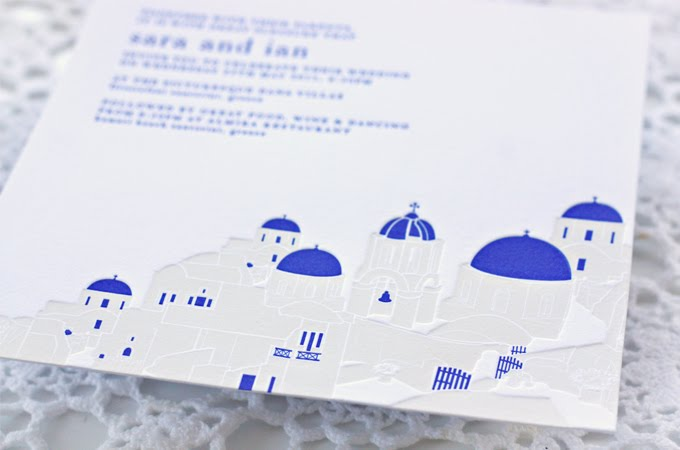 Greek Wedding Invitations Cobalt Blue Ivory 12 Onewed Com