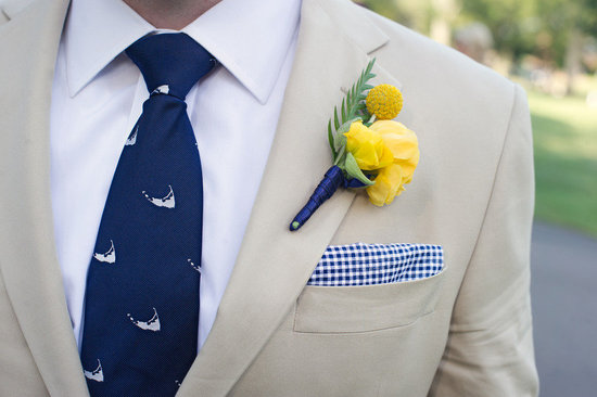 cobalt blue lemon wedding inspiration casual groom