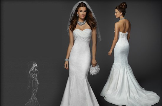mermaid wedding dress 2012 bridal gowns bebe
