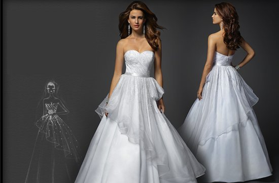 bebe bridal gown with peplum 2012 wedding dresses