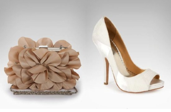 bebe wedding shoes bridal clutch 2012