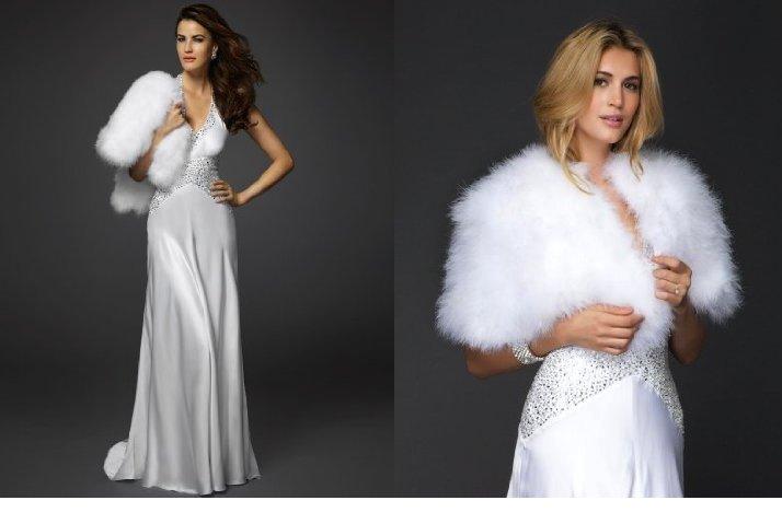Bebe bridal gown winter wedding fur shrug for Fur shrug for wedding dress