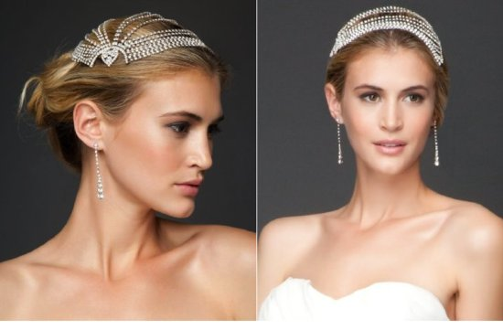 vintage inspired bridal headpiece 2012 wedding accessories by bebe